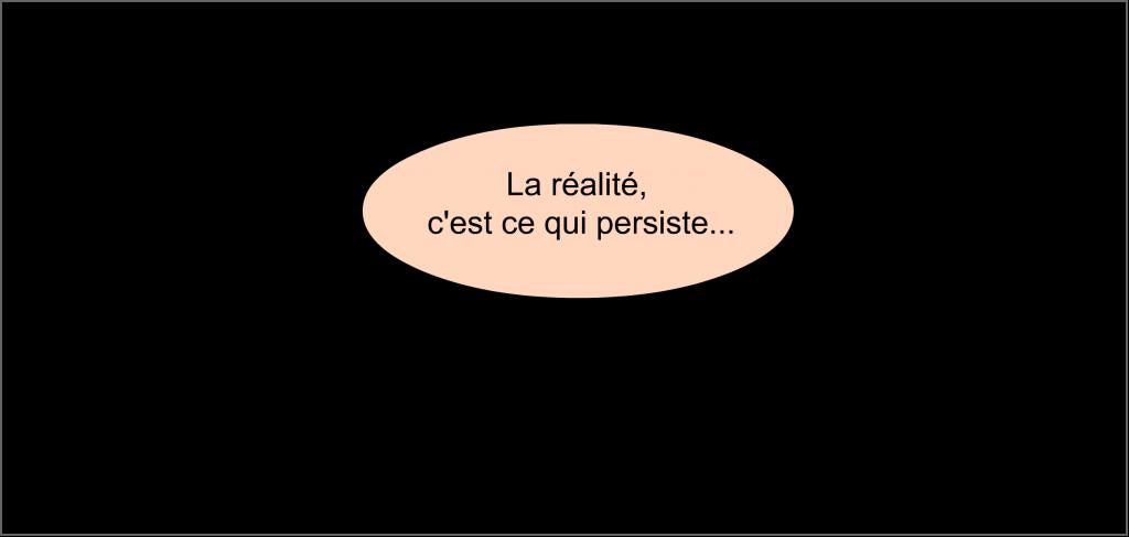 Schéma : pour sortir de la dépression, il est essentiel de faire la différence entre nos pensées et la réalité